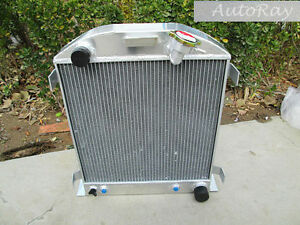 Aluminum Radiator Ford Hi-Boy Chevy Engine Hotrod 3 Rows Overall Height 570 mm