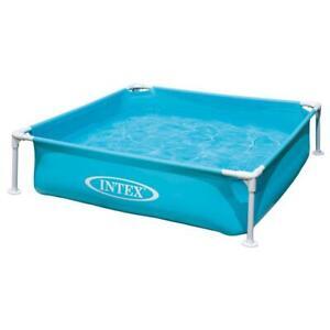Intex 4'ft Frame Paddling Pool Childrens/Kids Swimming 122x122x30cm