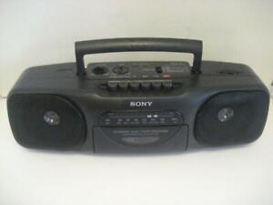 """Sony Radio Cassette * Recorder Portable Boombox """"Ghetto Blaster"""" AM/FM Stereo"""