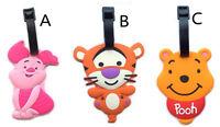 cute pooh piglet tigger luggage tag baggage tips silica gel tags Travel tag