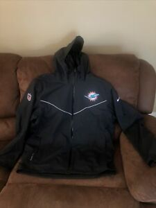 NIKE STORM FIT MIAMI DOLPHINS LIGHTWEIGHT FOOTBALL JACKET NO TAGS SIZE XL MENS