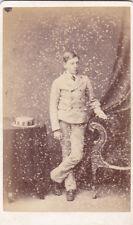 IRISH OLD CDV PHOTO DUBLIN IDENTIFIED FRANK KENNY 1872 ANTIQUE PHOTOGRAPH
