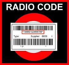 █►RADIO CODE passend für Chrysler Harman MyGIG NTG4 Uconnect 5.0 - 8.4  VP3 VP4