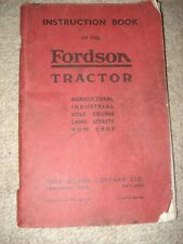 1942 Fordson Standard N tractor owners instruction book Industrial Land Utility.