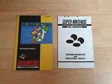 Super Mario World SNES + Consumer Information- INSTRUCTION MANUALS ONLY