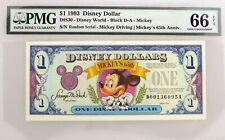 1993 $1 Disney Dollar Disney World Mickey Mouse Fr#DIS30 PMG Gem UNC 66 EPQ
