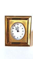 Réveil  Jours UTI SWIZA  8 Jours - Bronze doré Swiss made Pendule Clock