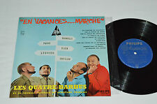 """LES QUATRE BARBUS En Vacances... Marche 10"""" Vinyl Album LP 33rpm Philips France"""