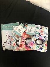 Lot of 3 Cutebone Female Dog Diapers Floral Washable Size S NWT