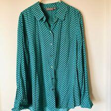 SUSSAN Green Diamond Button Shirt Blouse Size 10 BRAND NEW