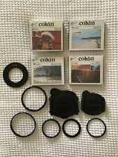 COKIN P-SERIES FILTER SYSTEM + FOUR FILTERS & FILTER RINGS. VGC