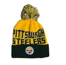 Pittsburgh Steelers OuterStuff NFL Youth One Size 8-20 Cuffed Knit Pom Beanie