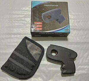 DZS 10 Million Volt Rechargeable Pistol Grip STUN GUN w/ Light & Pocket Holster