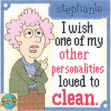 Cross Stitch Kit ~ Aunty Acid Other Personalities Funny Saying #014-0100