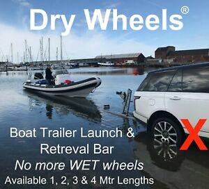 2 Mtr 'Dry Wheels' Boat Trailer Launching & Retreival Bar Boat RIB Fishing Boat