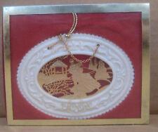 Lenox Christmas Ornament Gold Skaters Scene in Box