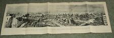 1873 WOOD ENGRAVING VIEW of RUINS AFTER THE GREAT FIRE IN BOSTON - Leslie's