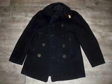 Vintage WWII WW2 US Navy USN Naval Clothing Pea Coat Men's Size 36 Cord Pockets