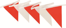 2x Prosafe BUNTING SAFETY FLAG 30m Roll, Double Stitched RED/WHITE
