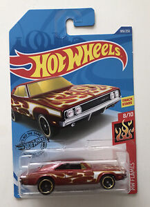 2020 HOT WHEELS #189 - '69 Dodge Charger 500 (Brown - HW Flames - Long Card) New