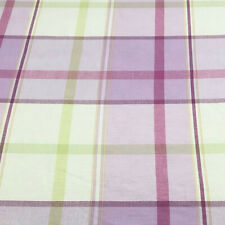 Laura Ashley Buxton Pink Cotton Check Fabric | Per Meter | Curtains Cushions