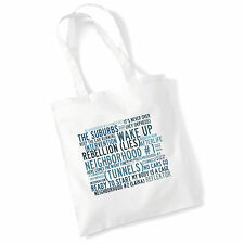 Art Studio Tote Bag ARCADE FIRE Lyrics Print Album Poster Gym Beach Shopper Gift
