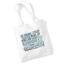 Art Studio Tote Bag ARCADE FIRE Lyrics Print Album Poster Gym Beach Shopper Gift
