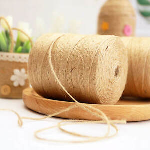 200m 3 Ply Natural Brown Soft JUTE TWINE Sisal String Rustic Cord Shabby