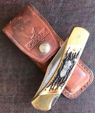 Vintage Uncle Henry Schrade+ LB8 Papa Bear Knife w/ Leather Sheath