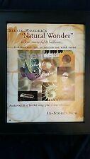 Stevie Wonder Natural Wonder Rare Original Promo Poster Ad Framed!
