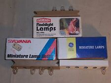 Vintage Flashlight Bulbs Sylvania Eveready GE Lot