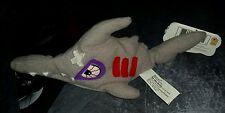 Sledge the Hammerhead Shark 5 Gills Meanie Series 1 Beanbag Retired Nwt 1997