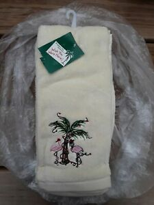 Holiday Pink Hand Bath Towels Washcloths For Sale Ebay
