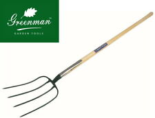 Manure Fork 4 prong High Quality Greenman Ash Handled 4ft 48""