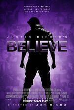 JUSTIN BIEBER'S BELIEVE 11x17 PROMO MOVIE POSTER
