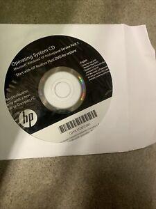 HP Operating System CD, Microsoft Windows XP Pro SP3