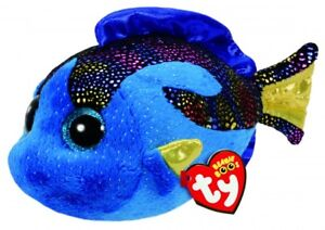 NEW TY BEANIE BOOS REGULAR - AQUA THE BLUE FISH 37243