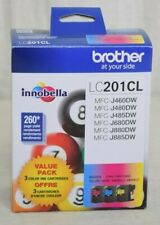 Brother LC2013PKS Ink Cartridges Standard-Yield 3-Pack Cyan/Magenta/Yellow New