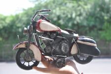 Vintage Fine Handpainted Unique Solid Bullet Motorcycle Tin Toy , Collectible