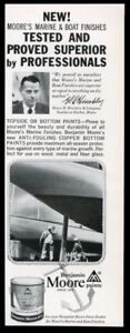 1960 Henry R Hinckley & yacht photo Benjamin Moore paint vintage print ad