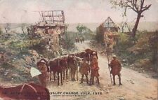 Postcard Military WWI After First Cavalry Charge July 1916