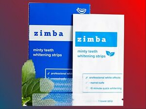 ZIMBA Teeth Whitening Strips - Mint - Zimba Whitening Strips - 14 Treatments!