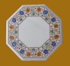 "15"" Decorative Marble Coffee Table Pietra dura Craft Handmade For Home Decor"