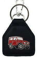 Toyota Land Cruiser FJ40 BJ40 SWB Genuine leather key fob    C041210F  - Red -