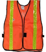 Orange Soft Mesh Safety Vest with 1.5 inch Reflective Lime Stripes