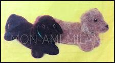 "Knitting Pattern To Make Smooth & Rough DACHSHUND Sausage Dog Toy Puppy 13"" Long"