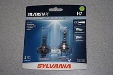 Sylvania Silverstar H7 Pair Set High Performance Headlight 2 Bulbs NEW