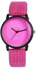 Donna Kelly Damen Armbanduhr 40 mm Kunstleder Armband Uhr Pink sportlich elegant
