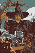 Wizard Of Oz Art Print by Vincent Aseo Witch Mondo Poster Durieux Tong Whalen