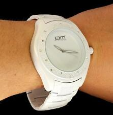 Brilliant White Metal Band CZ Icy Bezel King Pave Bling Hip Hop Mens Wrist Watch